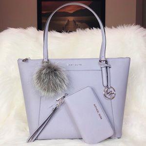 3PCS Michael Kors Large Ciara Tote Wallet Charms